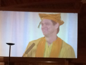 #JimCarrey at #MUMgraduation