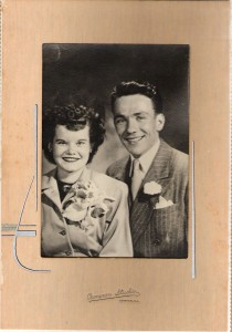 My parents, Gerald and Sarah Ward, on their wedding day in 1945. They were happily married for 65 years.