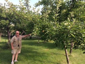 Dennis in the orchard of his family home in Birmingham.