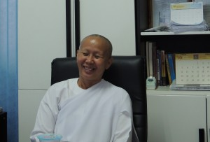 Acharn Yai Buddhist nun who practices Transcendental Meditation