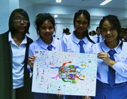 Girls at the Dhammarjarinee Witthaya school